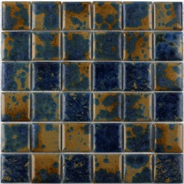 "Crystallized Porcelain Mosaic - Dark Blue 2""X2"""