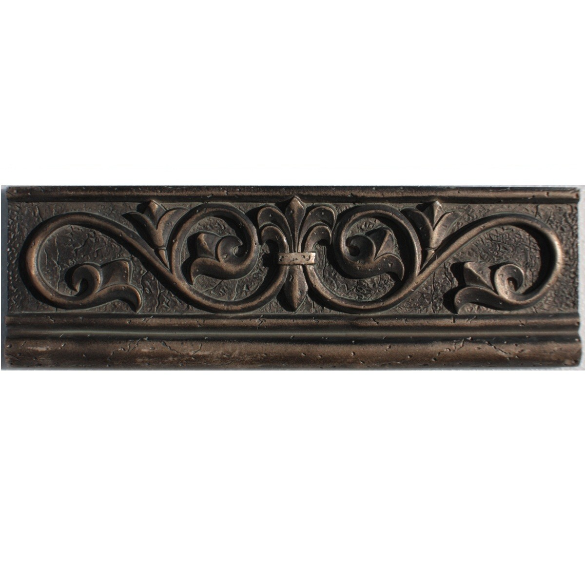 Border Fleur De Lis Bronze 4 X12 Metallic Resin Deco Products