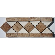 "Diamond Back Travertine, Polished , 5""x12"""