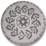 Mosaic Medallion, MM-RMCT-Olive